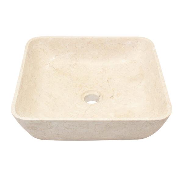 Kwadratowa umywalka z marmuru 3