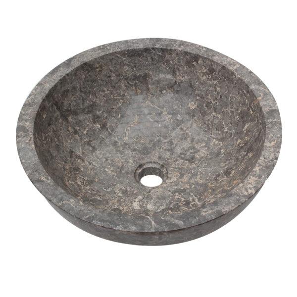 Kamienna umywalka z szarego marmuru 4
