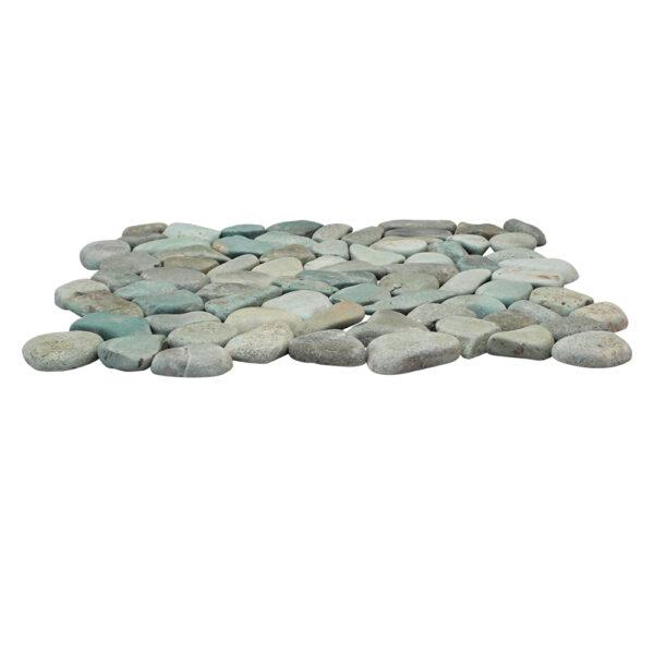 Mozaika kamienna z zielonych otoczakow 2
