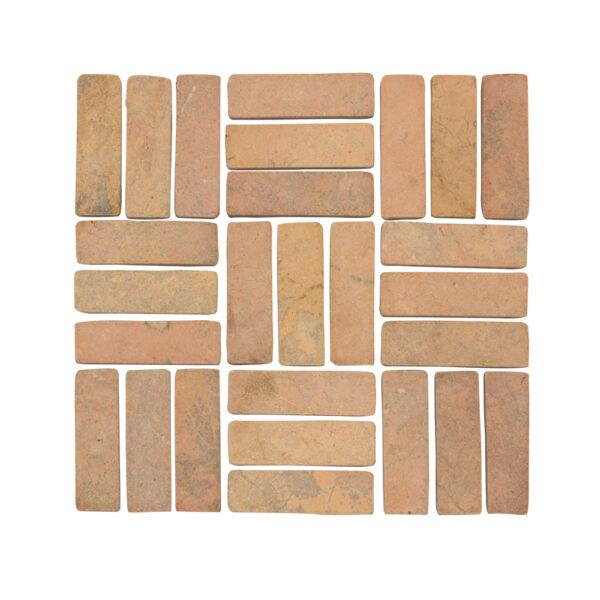 Mozaika kamienna z zoltego marmuru 1