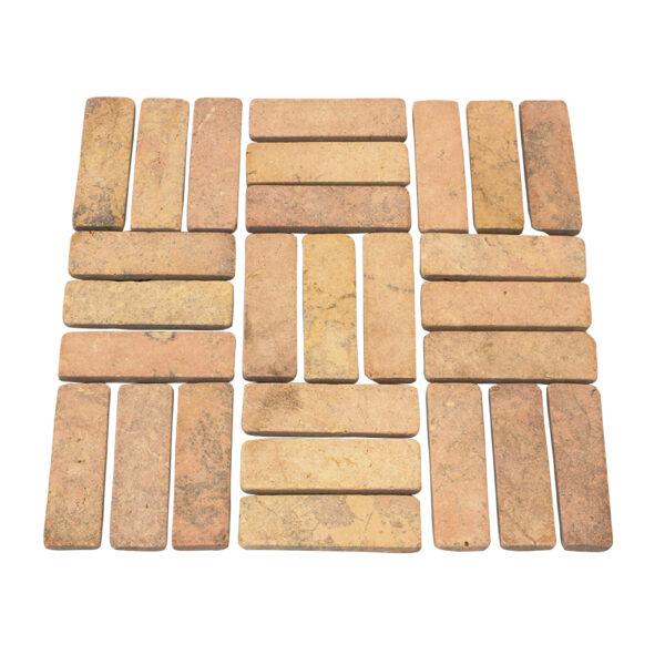 Mozaika kamienna z zoltego marmuru 2