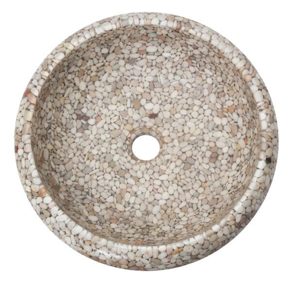 Umywalka na blat z otoczakow 1