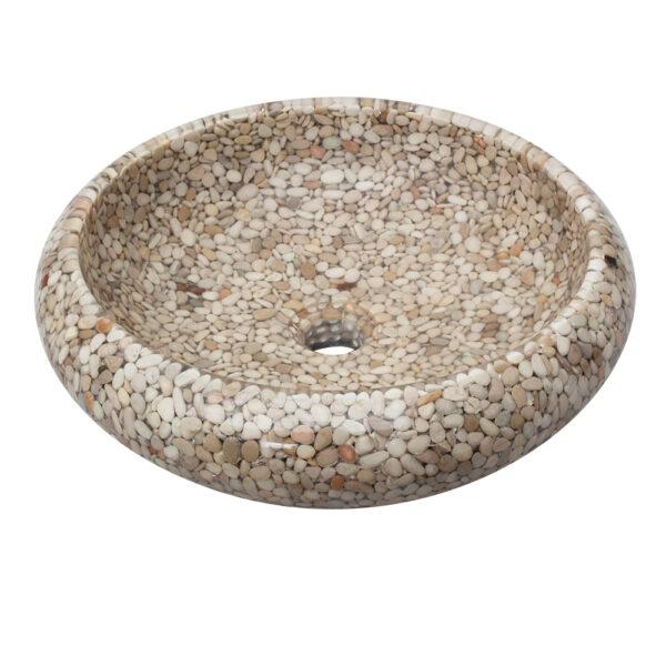 Umywalka na blat z otoczakow 4