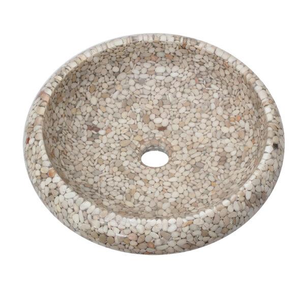 Umywalka na blat z otoczakow 6