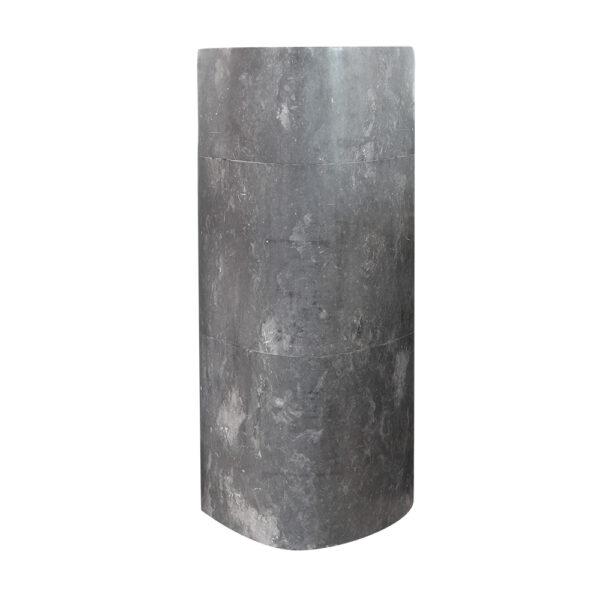 Czarna umywalka stojaca z marmuru 1