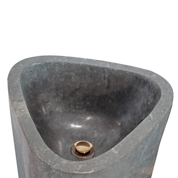 Czarna umywalka stojaca z marmuru 2