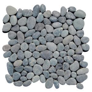 Czarne otoczaki mozaika 1