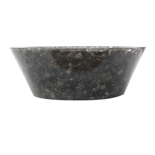 Umywalka z czarnych otoczakow 1