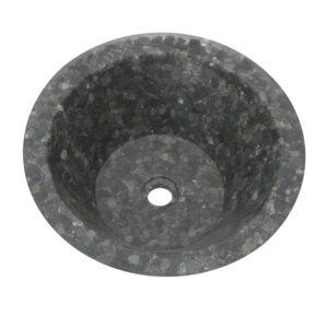 Umywalka z czarnych otoczakow 2