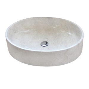 Owalna umywalka z marmuru 2