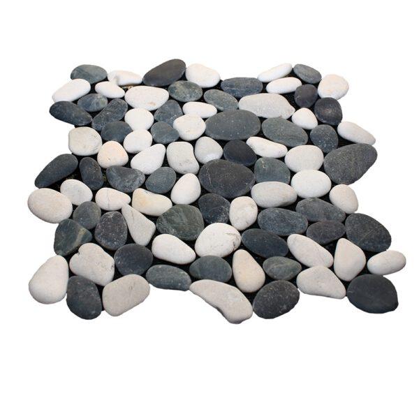 Bialo czarne otoczaki mozaika 3