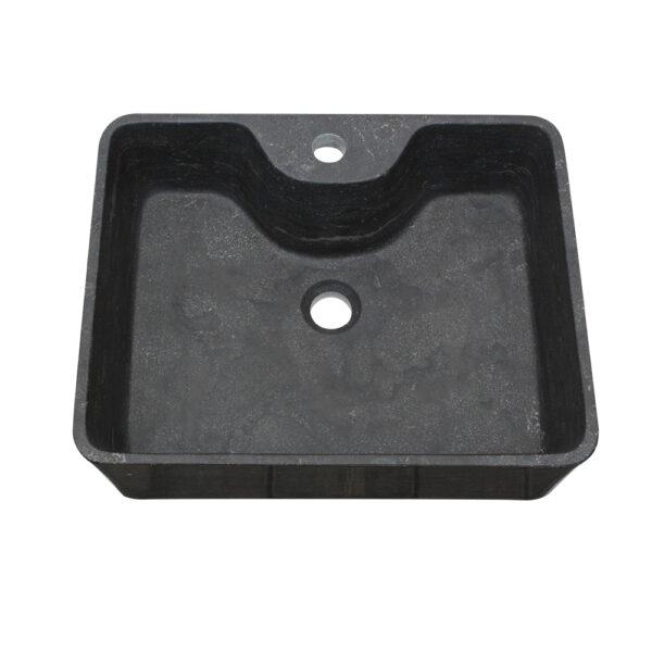 Czarna Umywalka z kamienia 2