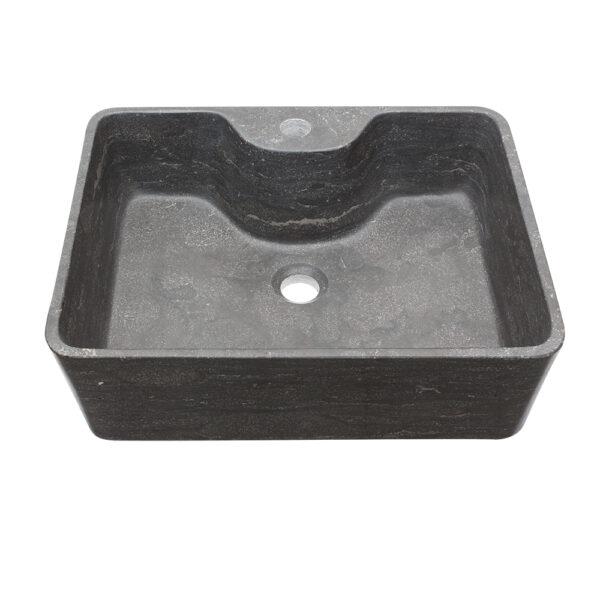 Czarna Umywalka z kamienia 3