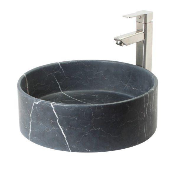 Czarna umywalka z kamienia Art24 1