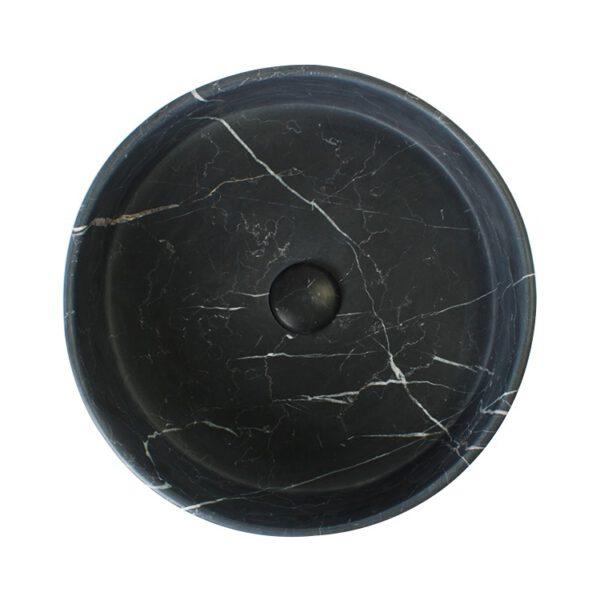 Czarna umywalka z kamienia Art24 2