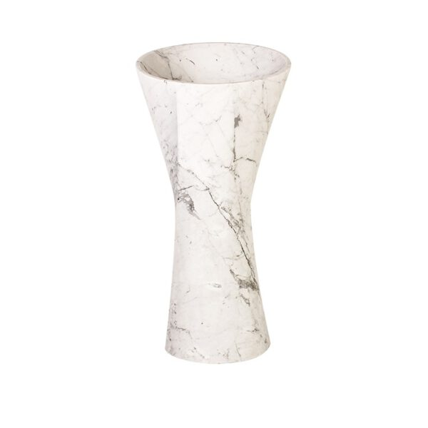 Umywalka z bialego marmuru Lux4home 1