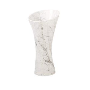 Umywalka z bialego marmuru Lux4home 2