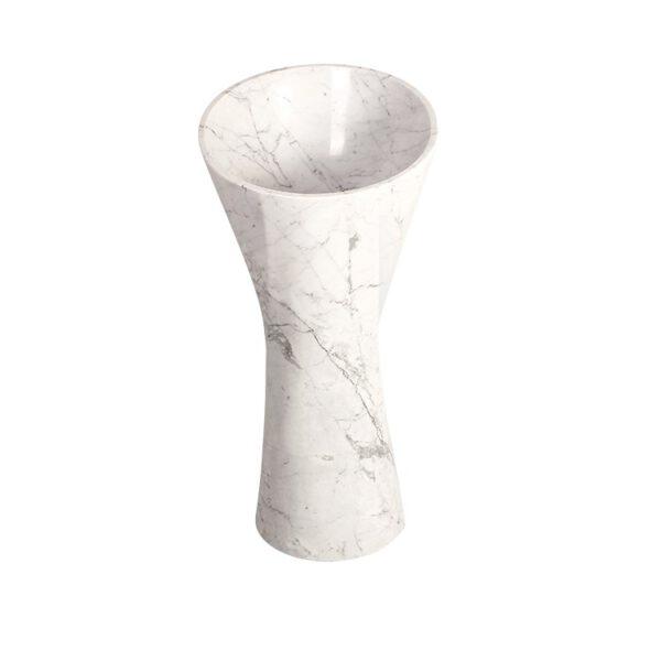 Umywalka z bialego marmuru Lux4home 3