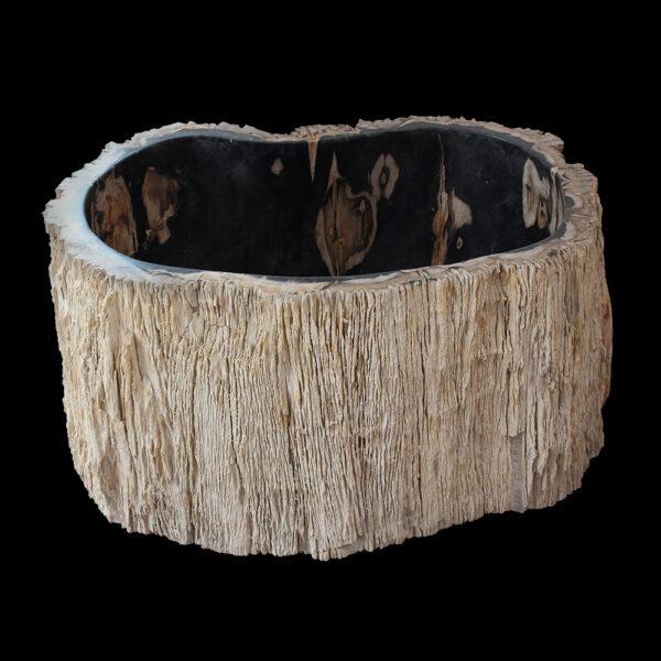 Wysoka umywalka ze skamienialego drewna 1