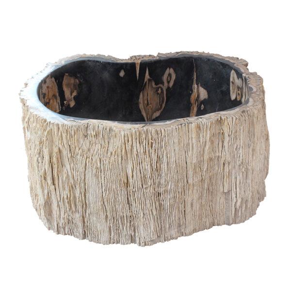 Wysoka umywalka ze skamienialego drewna 2