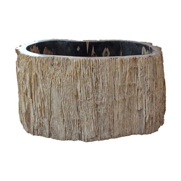Wysoka umywalka ze skamienialego drewna 4